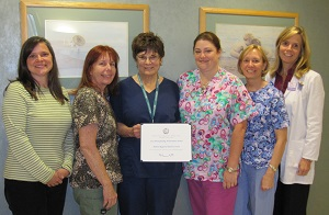 Milford Regional's Lactation Consultants have been honored with the 2012 Breastfeeding Achievement Award from the Massachusetts Department of Public Health.