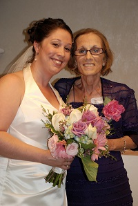Chrissy and mom at her wedding at hospital