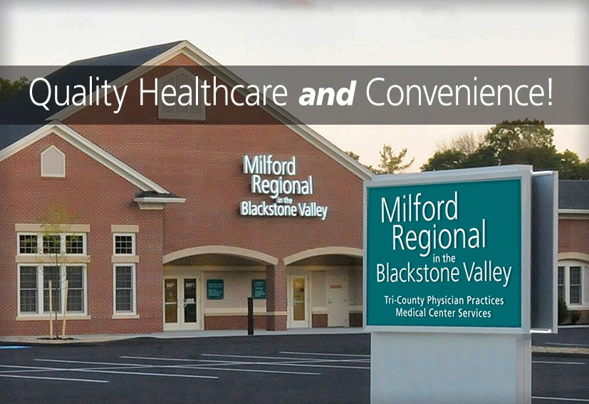 Milford Regional in the Blackstone Valley building