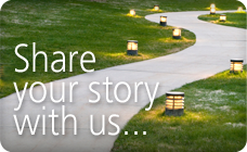 Share your story with us button