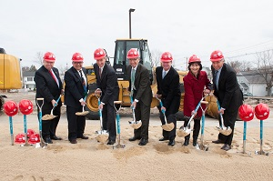 Groundbreaking for new building_2014