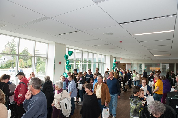 Community members gather in the new ED waiting room
