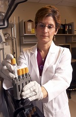 Woman working in our laboratory